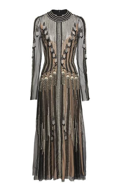 Temperley London Moonlight Beaded Organza Dress Size: 14