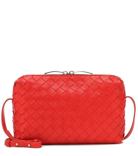 Bottega Veneta Nodini New Small leather crossbody bag in red