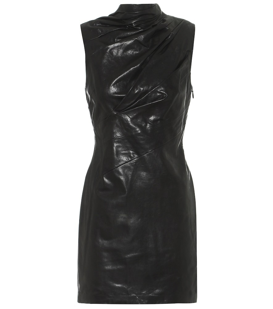 RTA Holly leather minidress in black