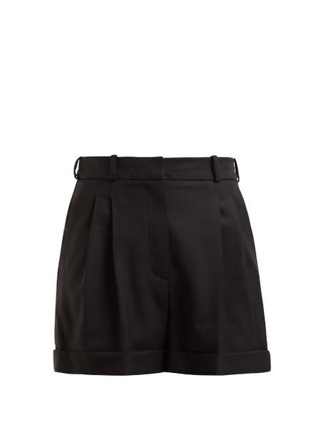 Racil - City High Rise Wool Shorts - Womens - Black