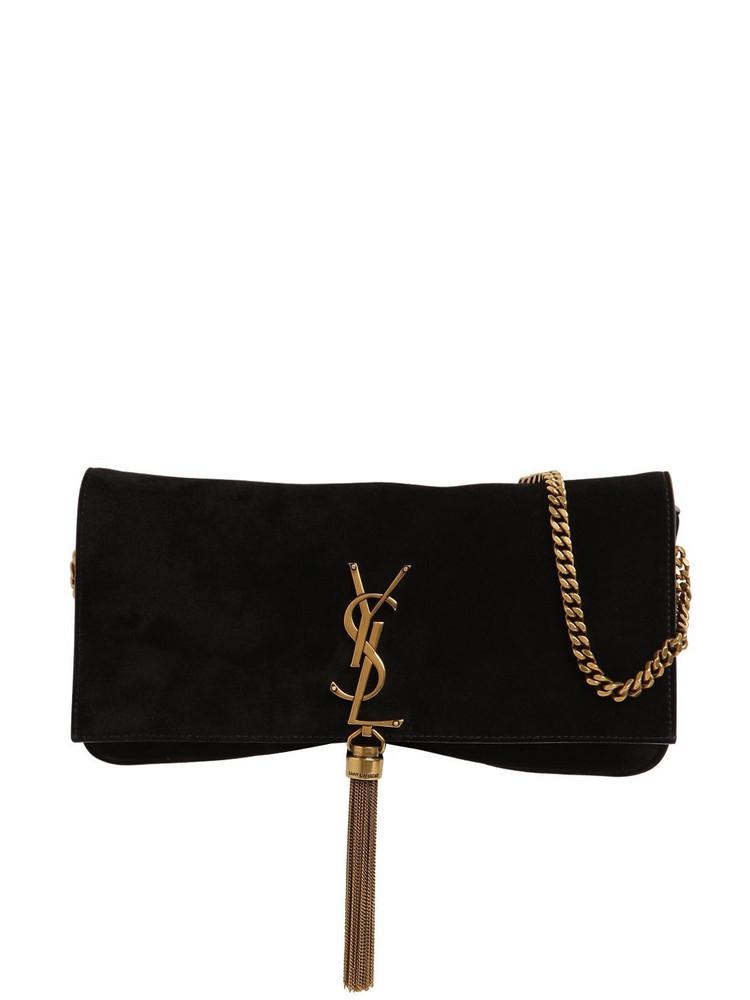 SAINT LAURENT Kate 99 Baguette Suede Bag W/tassel in black