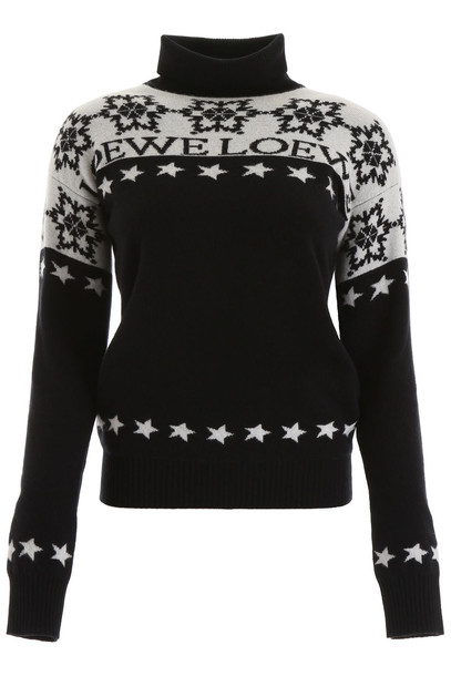 Loewe Snowflake Turtleneck in black / white