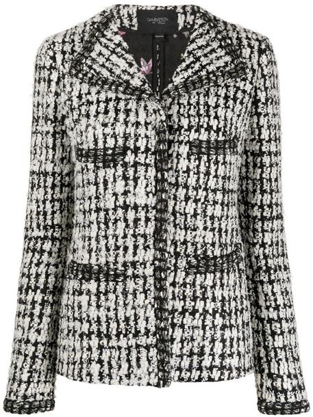 Giambattista Valli fitted tweed jacket in black