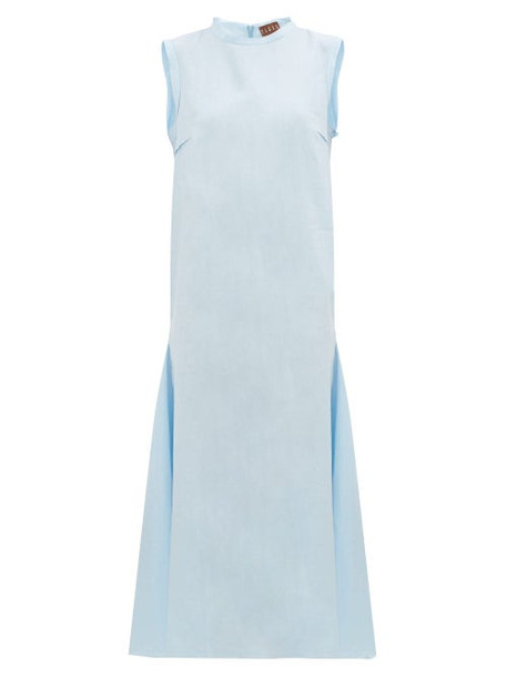 Albus Lumen - Agaso Sleeveless Linen Dress - Womens - Light Blue