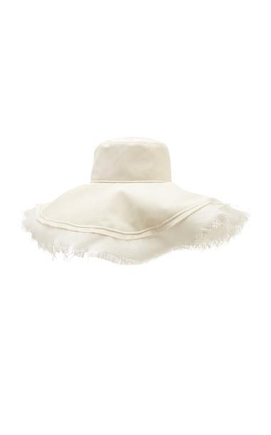 Etro Frayed Brim Sun Hat Size: 56/58 in white