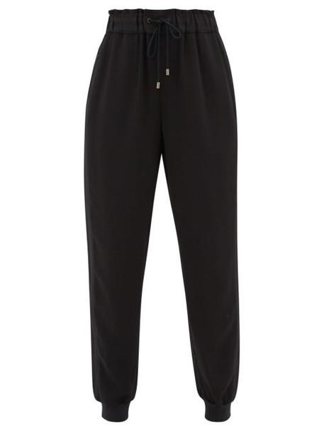 Vaara - Clemmie Crepe Track Pants - Womens - Black