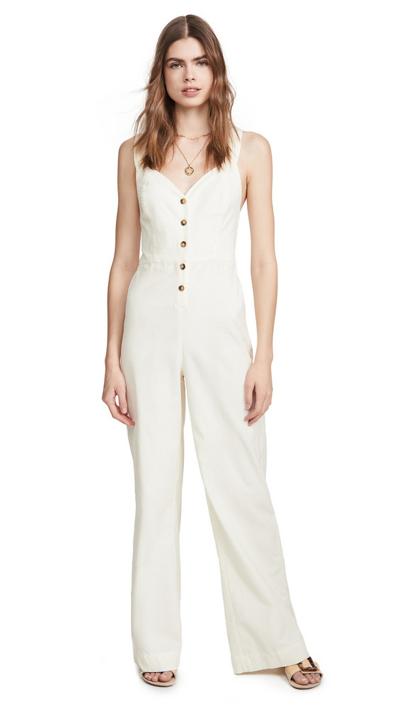 Knot Sisters Lana Jumpsuit in cream