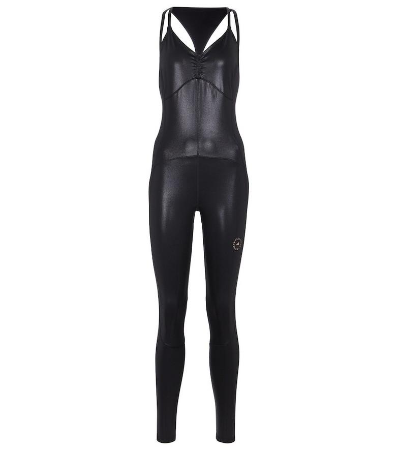 adidas by Stella McCartney Shiny open-back jumpsuit in black