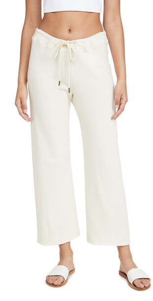 THE GREAT. THE GREAT. The Wide Leg Cropped Sweatpants in white