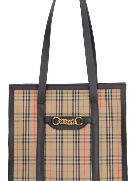 Burberry The Link Check Canvas Tote Bag