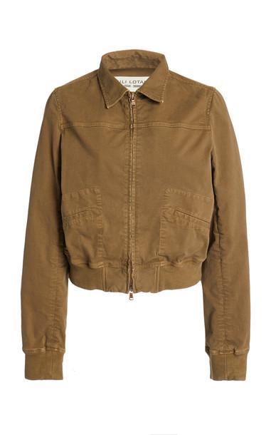 NILI LOTAN Eric Cotton-Blend Jacket in green