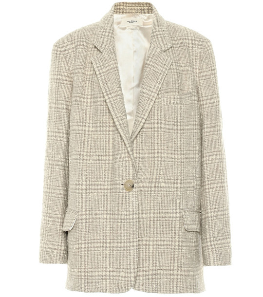 Isabel Marant, Étoile Korix checked wool-blend jacket in beige