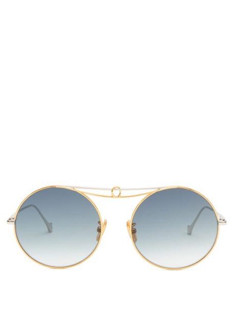 Loewe - Round Metal Sunglasses - Womens - Gold