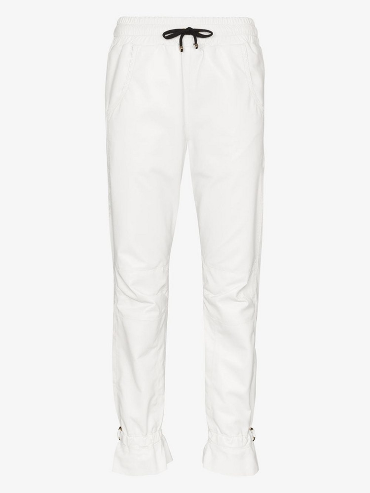 Skiim Gaby leather track pants in white