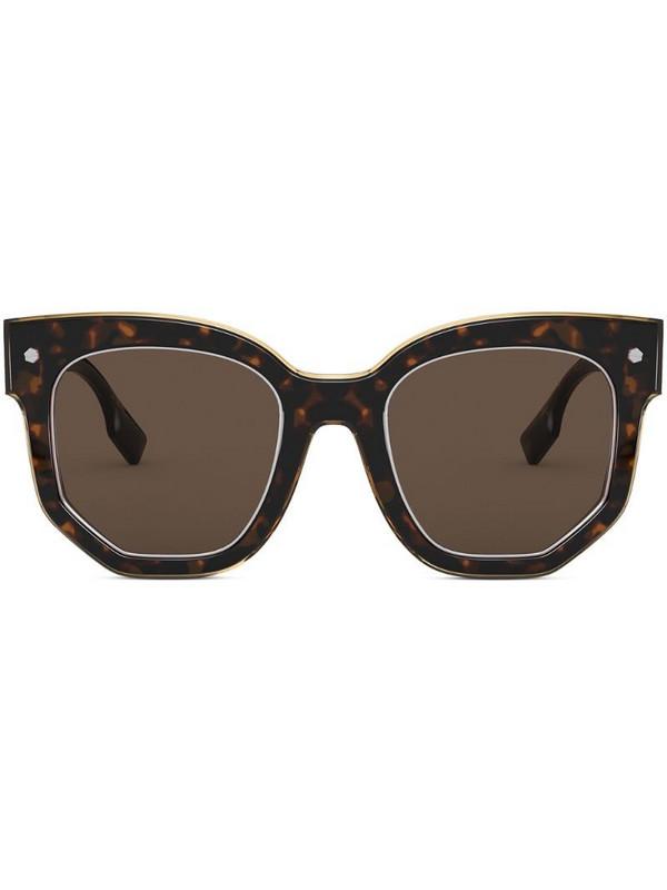 Burberry Eyewear tortoiseshell frame sunglasses in brown