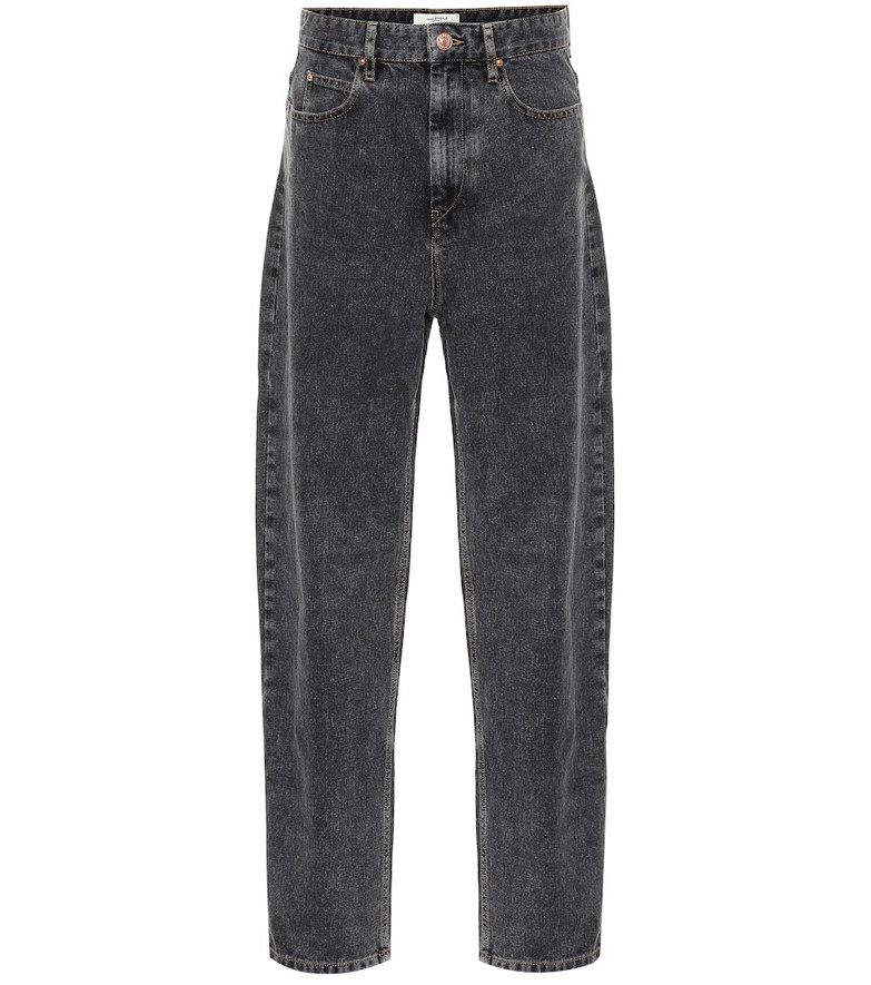 Isabel Marant, Étoile Corsey high-rise straight jeans in black