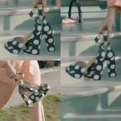 shoes,polka dots,platform heels,pumps
