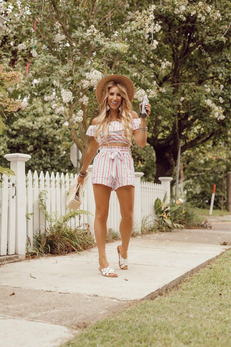 januaryhart blogger shorts hat shoes bag summer outfits
