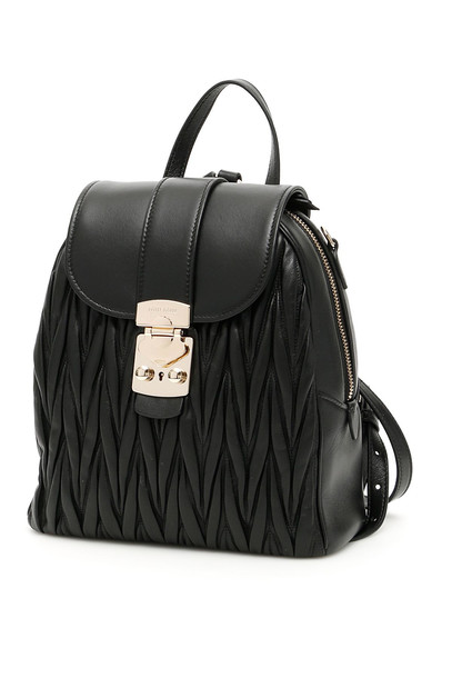 Miu Miu Matelasse Backpack in black