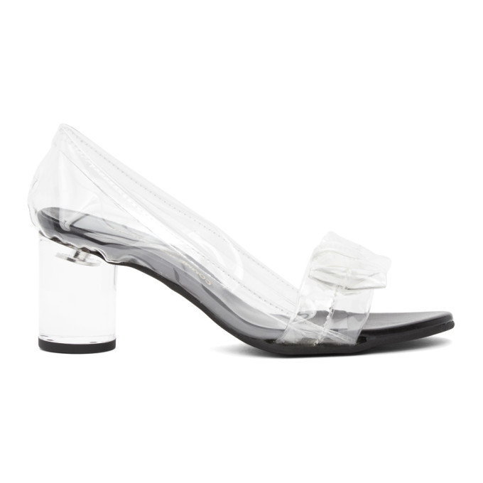 Comme des Garcons Transparent Bow Heels in clear