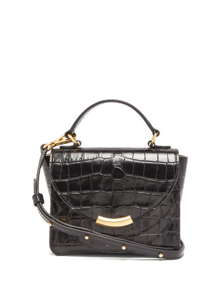 Wandler - Luna Mini Crocodile-effect Leather Cross-body Bag - Womens - Black