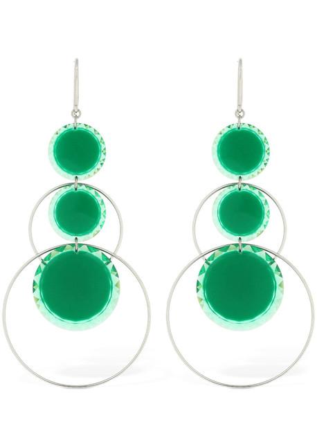 ISABEL MARANT Harlem Hoop Earrings in green