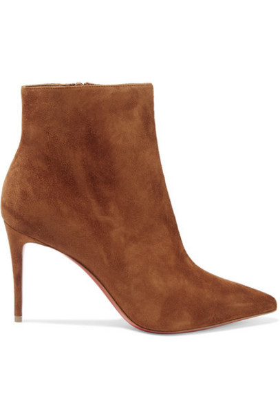 Christian Louboutin - So Kate Booty 85 Suede Ankle Boots - Brown