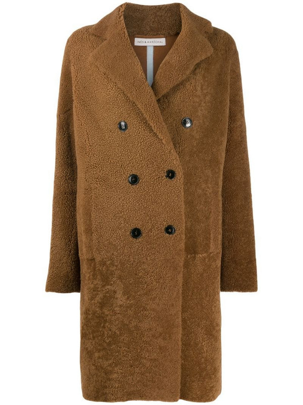 Inès & Maréchal double-breasted coat in neutrals