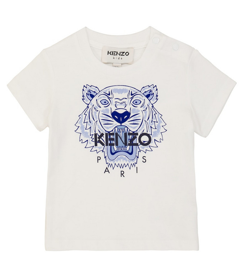 KENZO Kids Baby Tiger printed T-shirt in white