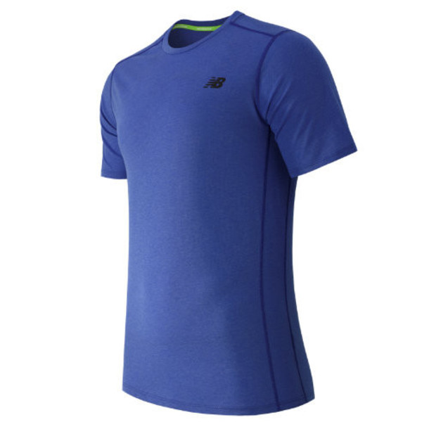 New Balance 61034 Men's Pindot Flux Short Sleeve - Blue (MT61034PC)