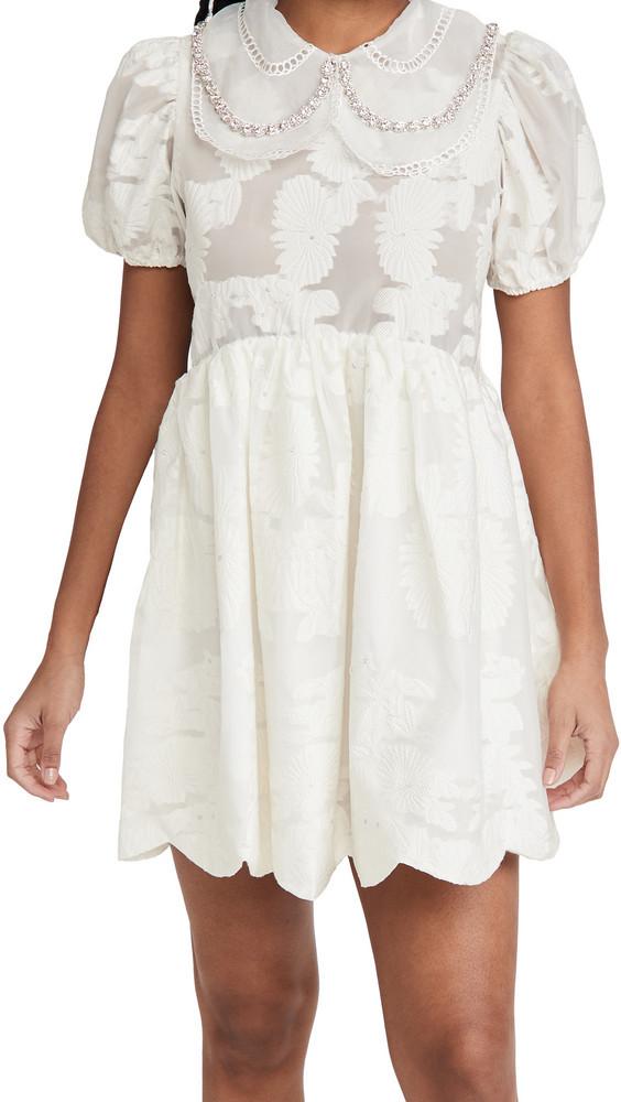 Sister Jane Invitation Mini Dress in ivory