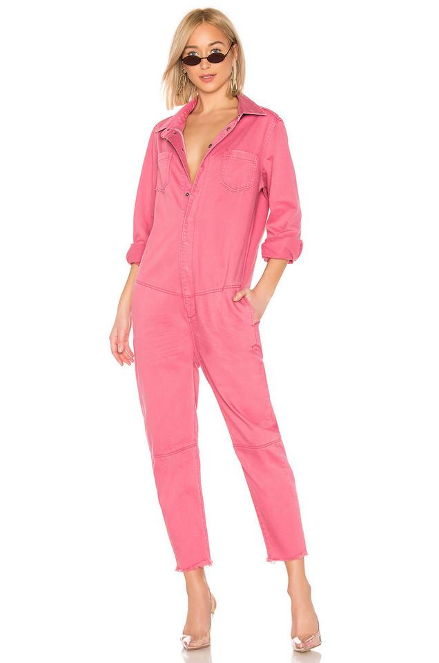 One Teaspoon Paradise Utility Jumpsuit in pink