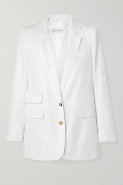 Max Mara - Ronchi Cotton-twill Blazer - White
