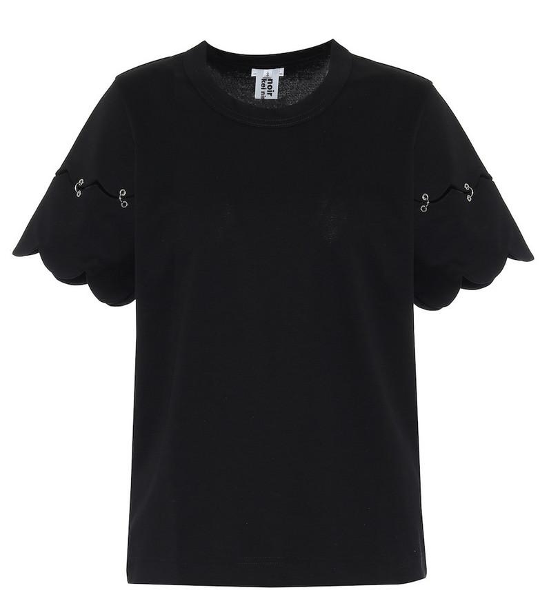 Noir Kei Ninomiya Cotton-jersey T-shirt in black