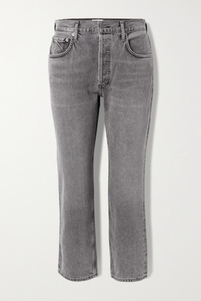 AGOLDE - Ripley Mid-rise Straight-leg Jeans - Anthracite