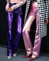 pants,metallic pants