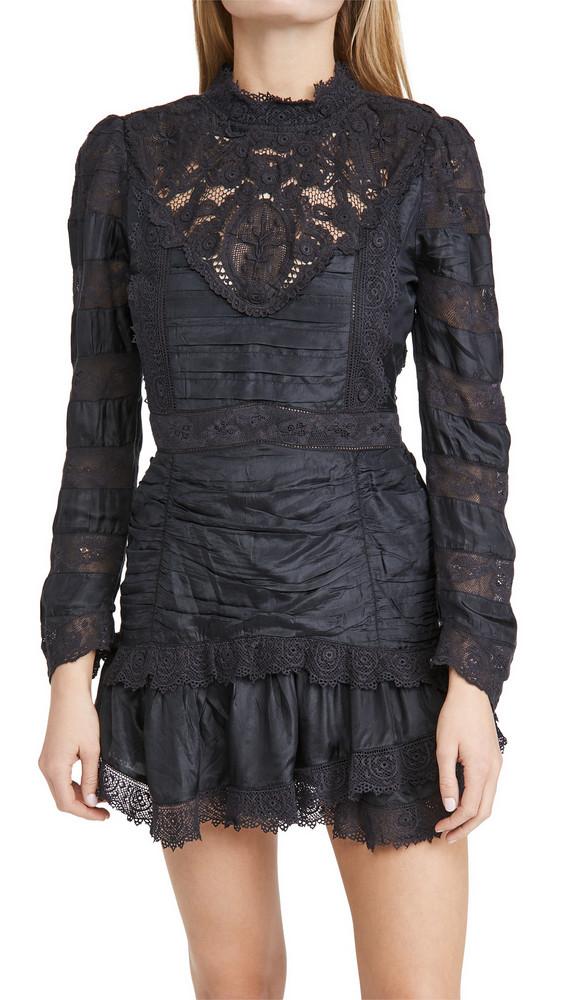 LOVESHACKFANCY Harmon Dress in black