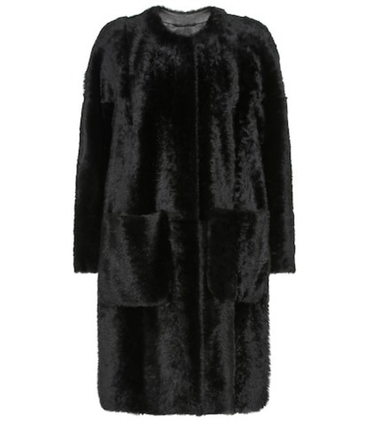 S Max Mara Orma shearling coat in black