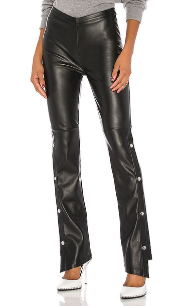 T by Alexander Wang Stretch Washable Faux Leather Pants in Black