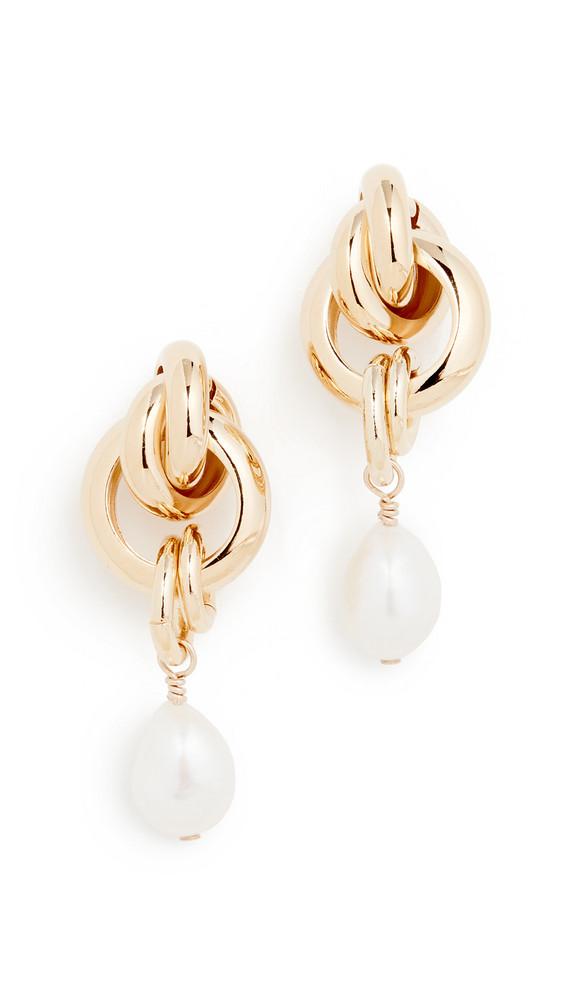 Cloverpost Linger Earrings in gold / yellow