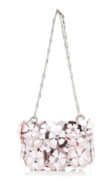 Paco Rabanne Sac Porte Epaul Bloom Shoulder Bag in pink