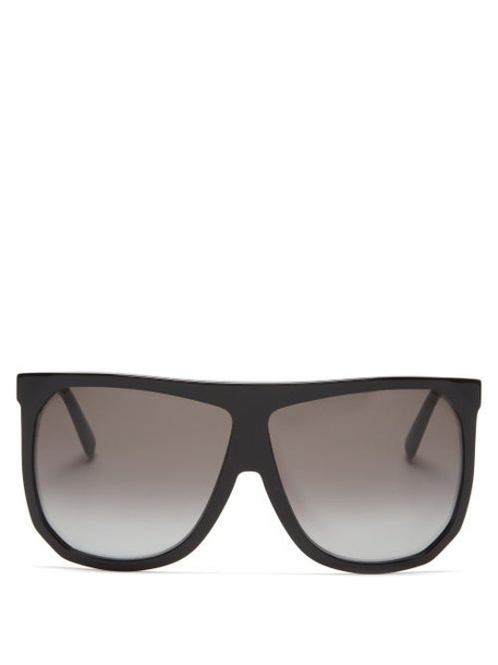 Loewe - Filipa Oversized Flat-top Acetate Sunglasses - Womens - Black