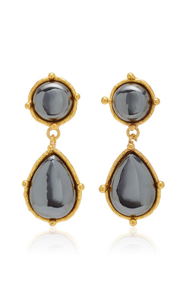 Sylvia Toledano 2 pierres dots Hematite Earrings in grey
