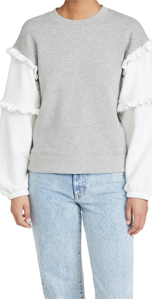 Rebecca Minkoff Evelyn Sweatshirt in grey / ecru