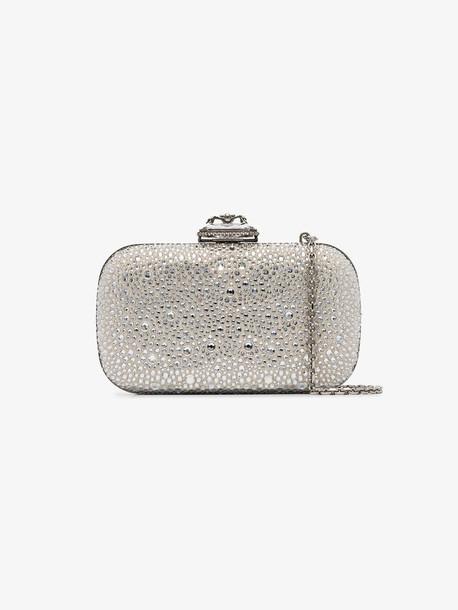 Alexander McQueen silver spider embellished suede box bag