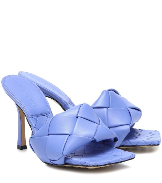 Bottega Veneta BV Lido leather sandals in blue
