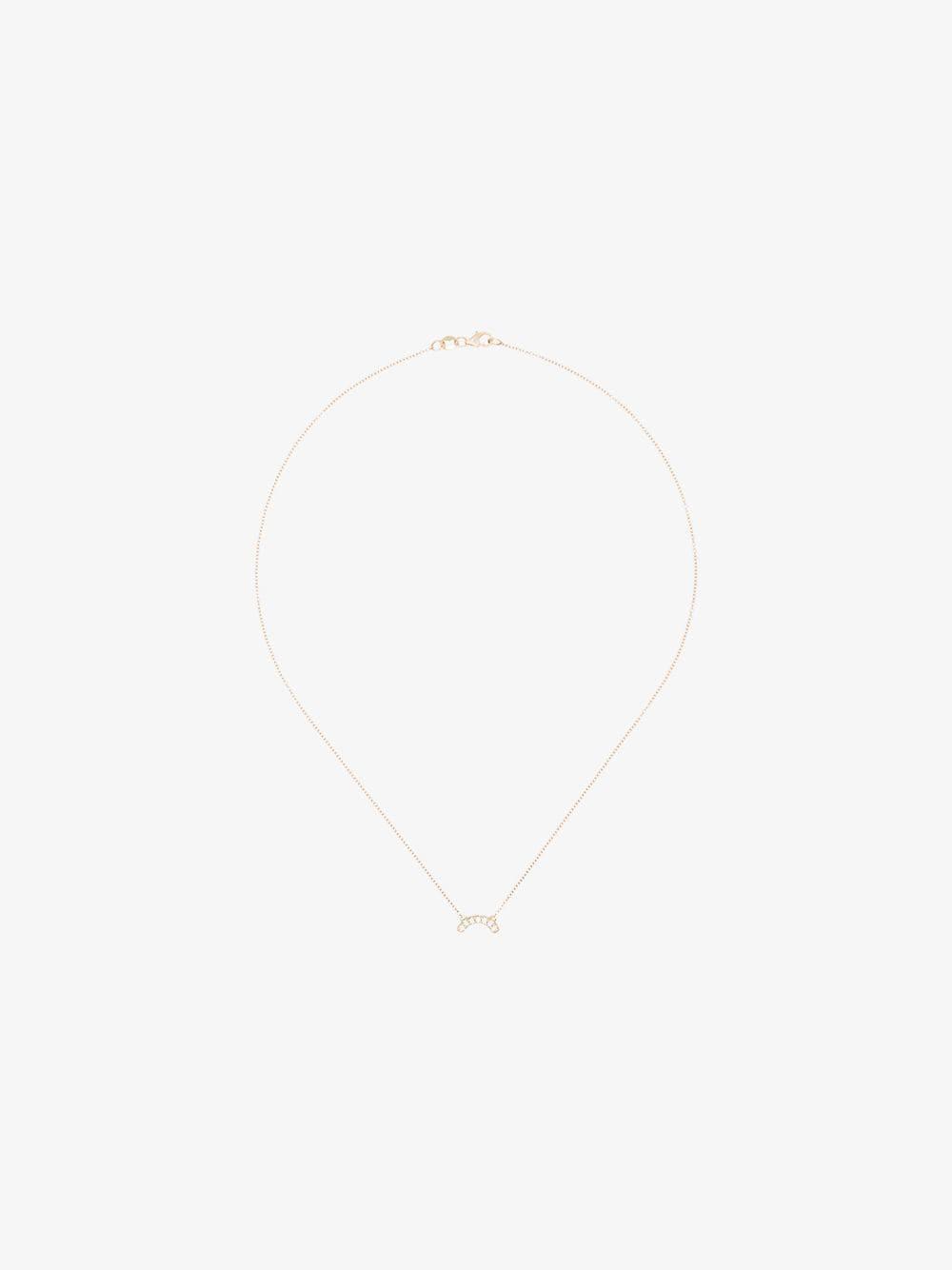 Andrea Fohrman single row diamond necklace in gold