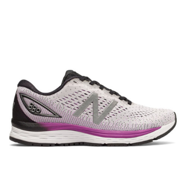 New Balance 880v9 Women's Neutral Cushioned Shoes - White/Purple/Black (W880WT9)