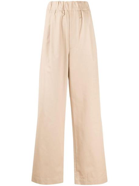 Jejia high-rise wide-leg trousers in neutrals