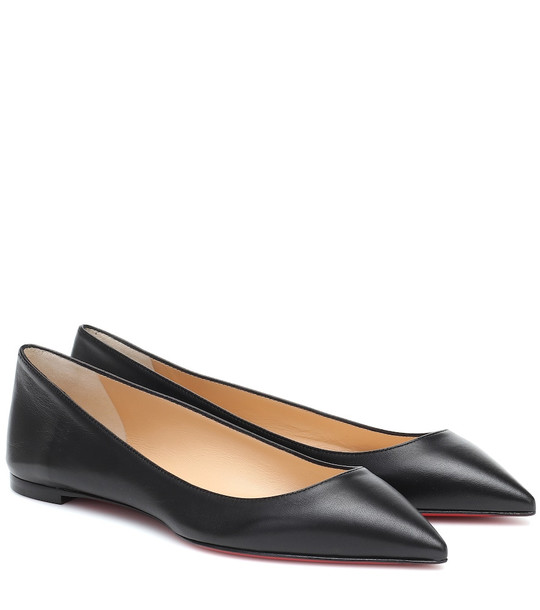 Christian Louboutin Ballalla leather ballet flats in black